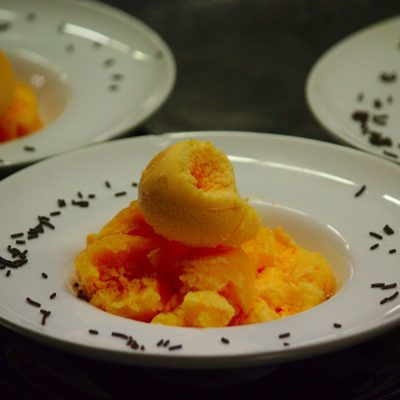 Helado de mandarina